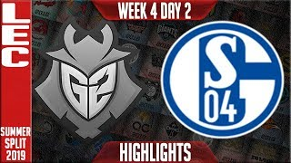 G2 vs S04 Highlights | LEC Summer 2019 Week 4 Day 2 | G2 Esports vs Schalke 04
