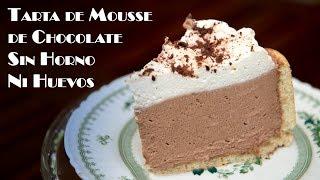 Tarta de Mousse de Chocolate Crema y Tarta Helada Sin Horno Ni Huevos