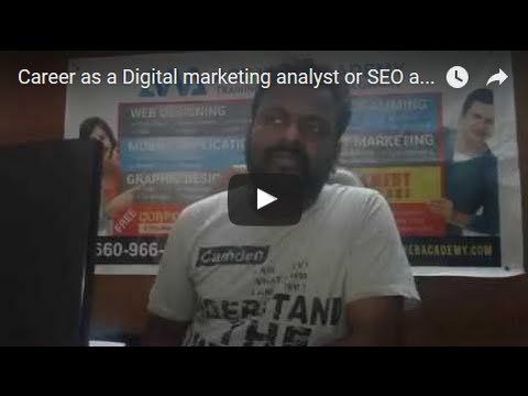 Career as a Digital marketing analyst or SEO analyst Hyderabad