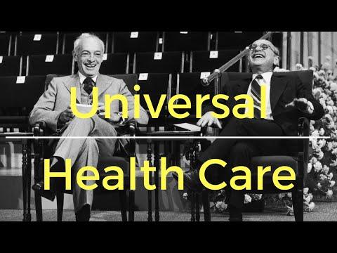 Milton Friedman on universal health care