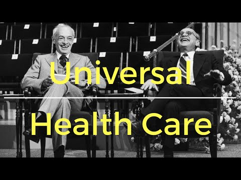 Milton Friedman on universal health care