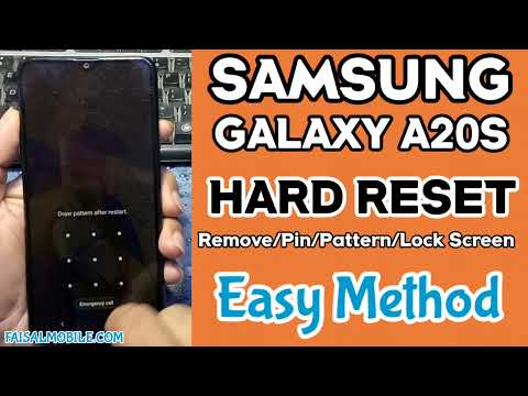 SAMSUNG A20s HARD RESET || SAMSUNG A207F Pattern/Pin/FaceLock Remove || Factory Reset