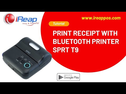 iReap POS (Point of Sale) Lite receipt printing with SPRT bluetooth printer