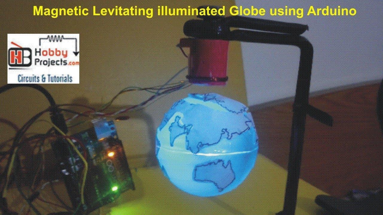 Magnetic Levitating illuminated rotating Globe using Arduino