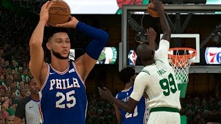 NBA 2K20 Tacko Fall My Career - Ben Simmons For Three! Another Snatch Block!