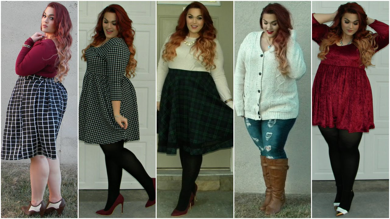 The Curvy Diaries Winter Lookbook Plus Size Youtube