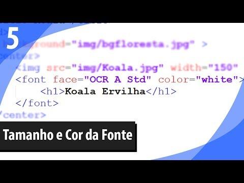 5 - Como Mudar a Cor do Texto no HTML