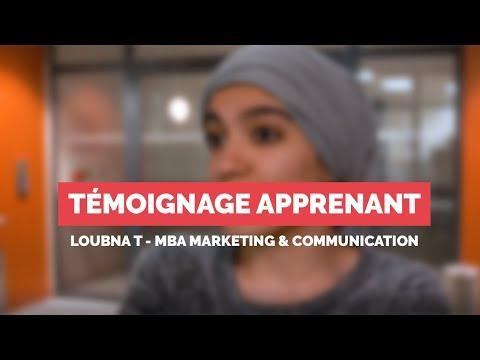 Témoignage COMNICIA - LOUBNA T. - MBA Marketing & Communication