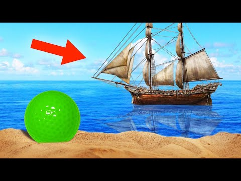 GOLF BATTLE WITH PIRATE SHIPS! (Golf It)
