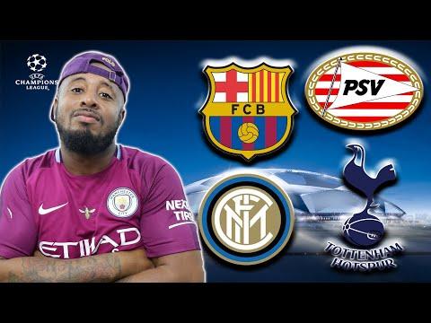 Group B | Barcelona, Tottenham, PSV, Inter Milan | UCL Predictions
