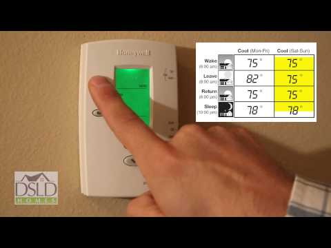 Thermostat Programming - Honeywell® Pro-2000