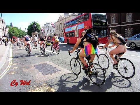 Highlights from the World Naked Bike Ride London (WNBR)
