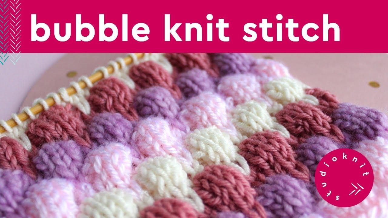Bubble Knit Stitch Pattern Youtube
