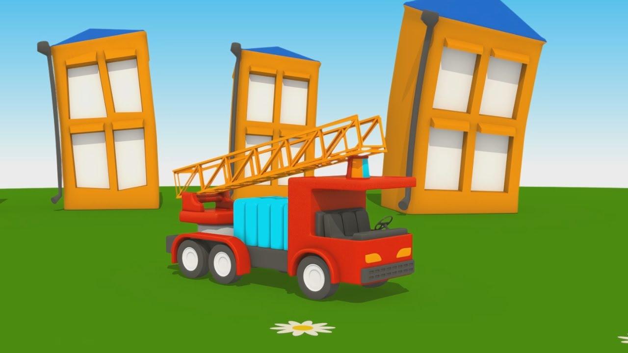 Cartoni animati per bambini u leo junior dipinge il camion dei