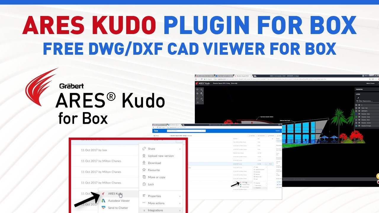 ARES Kudo plugin for Box | Free DWG/DXF CAD Viewer for Box