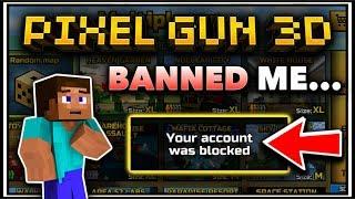 I Got BANNED From Pixel Gun 3D...