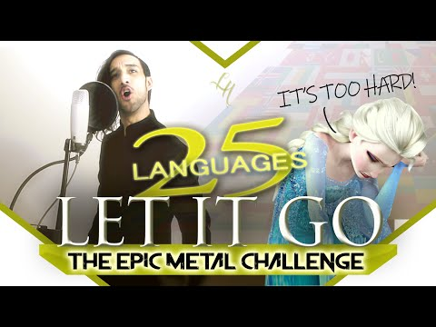 LET IT GO Symphonic Metal cover in 25 LANGUAGES! Leandro Hladkowicz (Frozen Multilanguage) L-Train