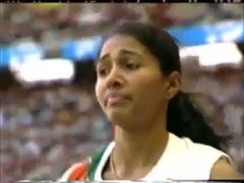 Indian Athlete Anju Bobby George s Long Jump at World Athletic Championships 2003