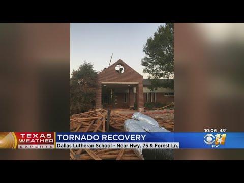 Community To Help Clean Up Outside Tornado-Damaged Dallas Lutheran School