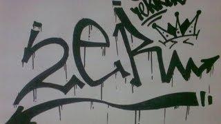 Граффити урок(Моё первое пробное видео) не судите строго) желаю всем кто любит и хочет начать рисовать граффити удачи), 2013-08-02T10:36:27.000Z)