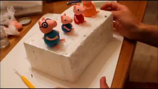 Свинка Пеппа Фигурки Из Мастики Семья Свинки Пеппа