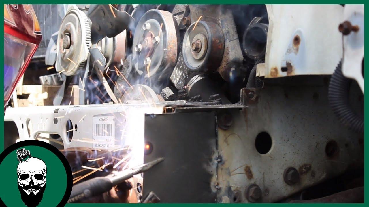 learning to weld welding jeep xj lower radiator support [ 1280 x 720 Pixel ]