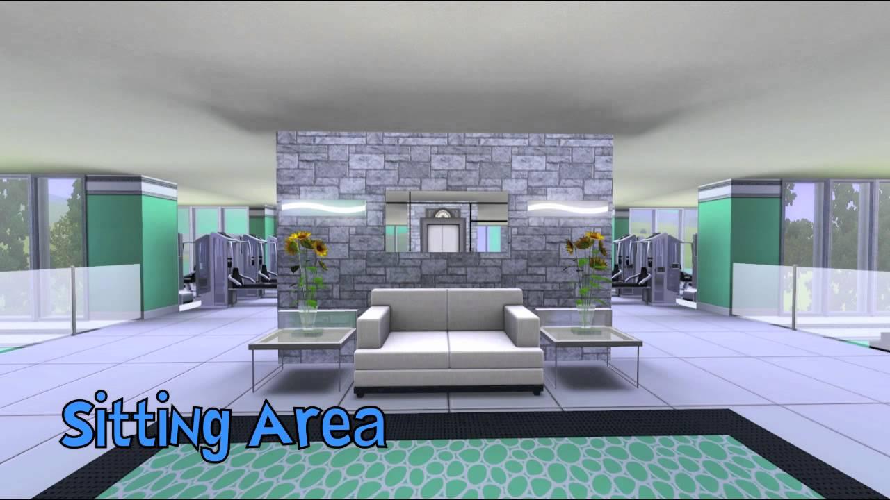 Sims aqua modern gym youtube