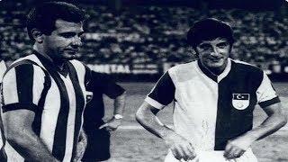 Metin Oktay - Jübile Maçı - Can Bartu ile forma değiştiriyor - 1969