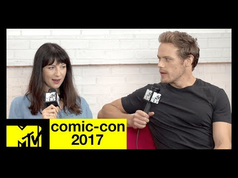 'Outlander's' Sam Heughan & Caitriona Balfe on Season 3  ComicCon 2017  MTV