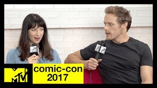 'Outlander's' Sam Heughan & Caitriona Balfe on Season 3 | Comic-Con 2017 | MTV