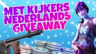 FORTNITE GEEFT GRATIS V-BUCKS WEG!! MET KIJKERS /GIVEAWAY / NEDERLANDS-1.7K-WINS