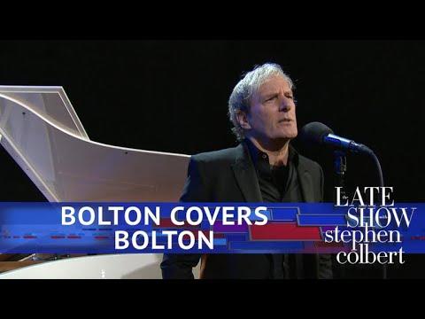 Stephen Colbert vs. John Bolton's Terrifying Ideas Sung By Michael Bolton