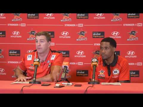 Perth Wildcats - Gleeson and Cotton Press Conference - 7 October 2017