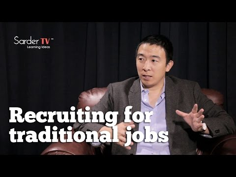 How are young people being recruited for traditional jobs? by Andrew Yang, CEO