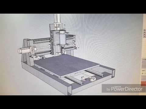 Cnc Router DIY, Steel frame, fixed gantry, homemade 3D plan