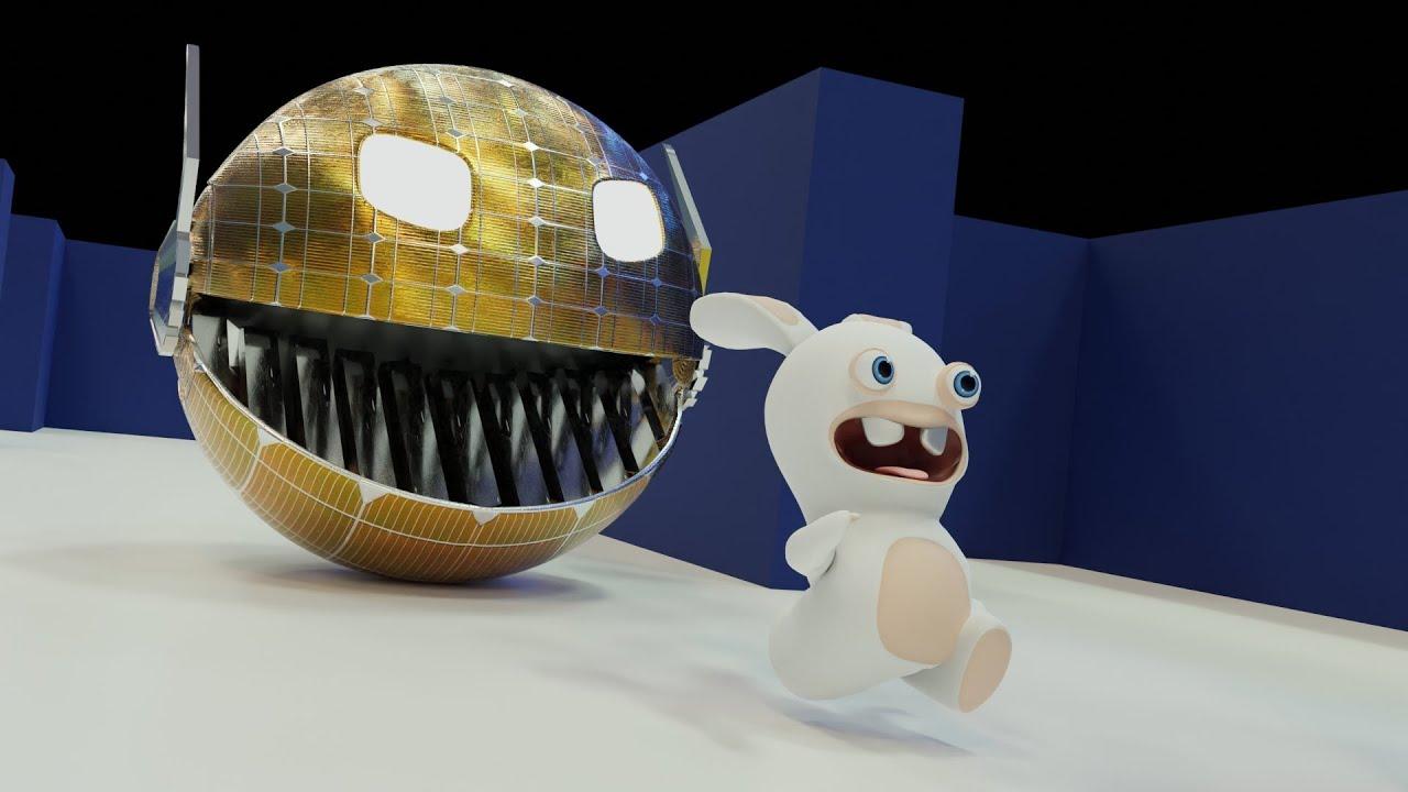 Robot Pacman vs Rabbids invasion