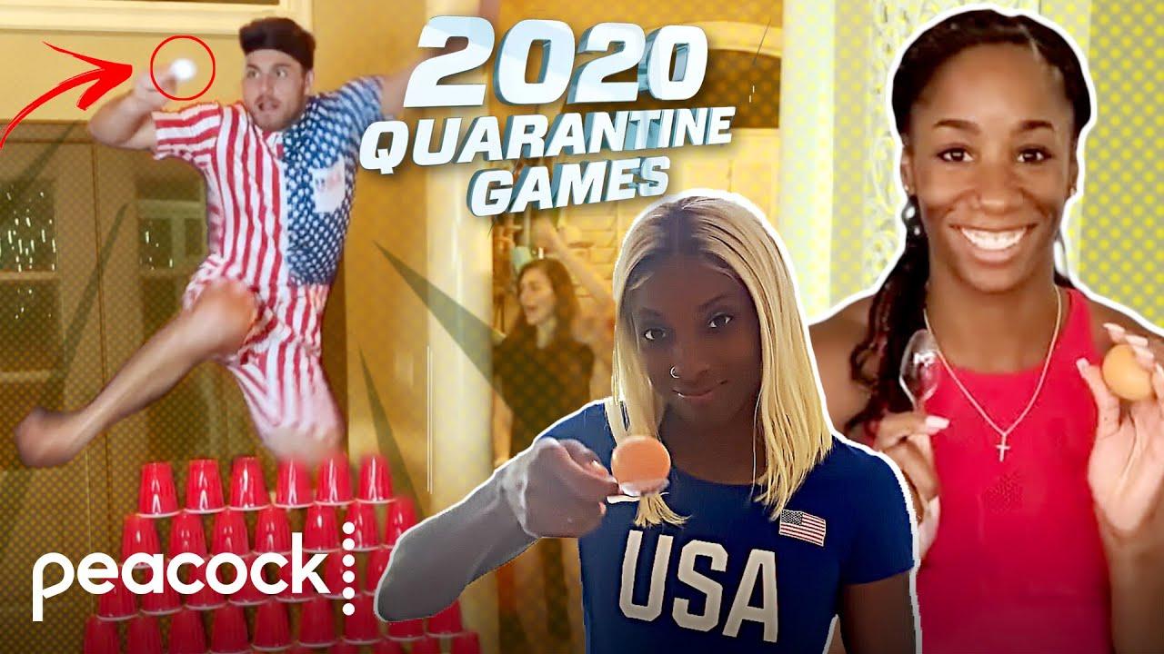 Team USA Quarantine Games: Egg Hurdle Challenge | Peacock At-Home Variety Show ft. Seth MacFarlane