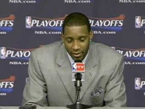 "Extremely Sad T-mac postgame interview- ""I tried man"""
