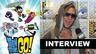 Teen Titans Go! - Interview with Beast Boy, Cyborg, Robin and Raven! - Behind the Episode!