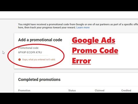 How To Get Google Promo Code