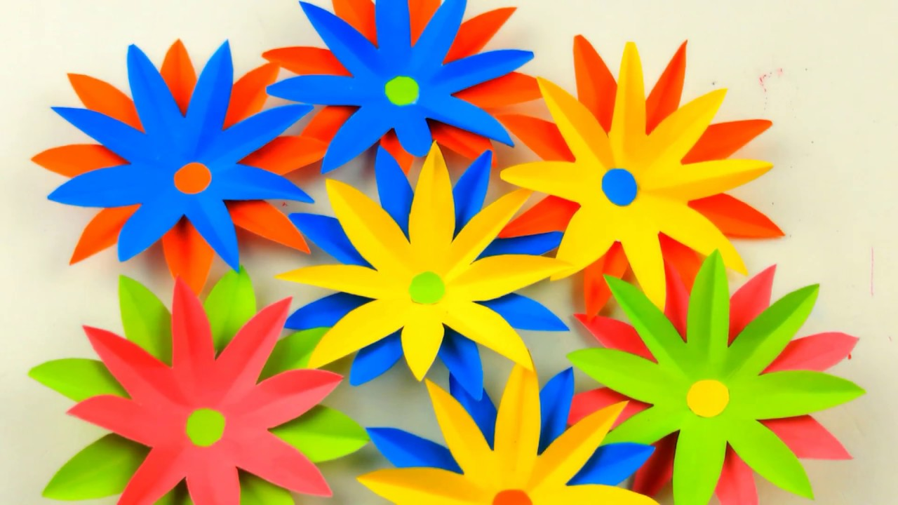 Amazing wall hanging/ Wall hanging craft ideas / Flower decorations ...