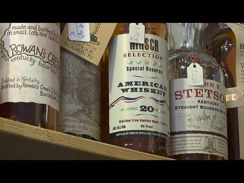 Euronews:US whiskey industry staggering as exports to EU fall through the floor