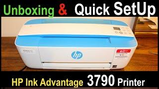 HP Ink Advantage 3790 SetUp, Unboxing & Review !!