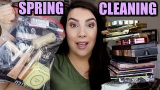 MAKEUP SPRING CLEANING... Decluttering Dozens of Products