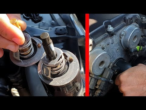 Mercedes W211 How to Replace a Thermostat / The engine does not warm up to 85/90 degrees!