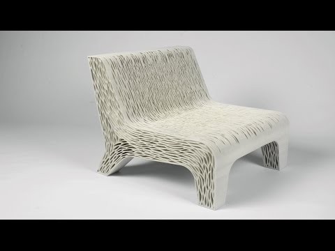 Lilian van Daal's 3D-printed Biomimicry chair shows off a new way to create soft seating