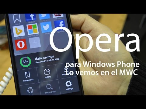Conociendo Opera software para Windows Phone en el MWC