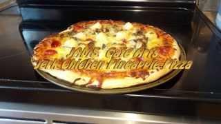 Jerk Chicken Pineapple Pizza