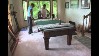 Installing Pool Table