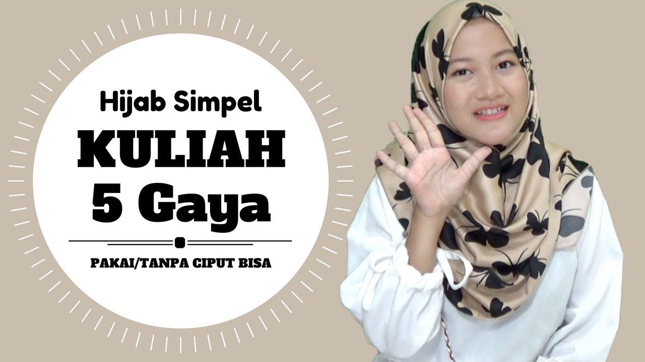 tutorial hijab simple untuk kuliah, kampus & sehari hari #nmy hijab  tutorials